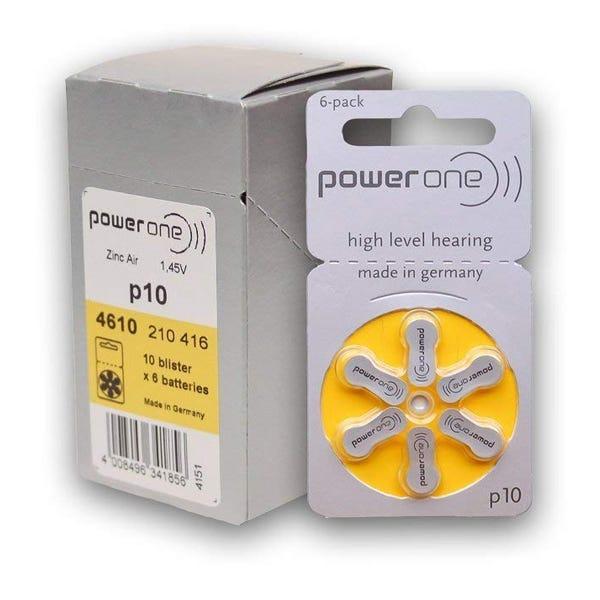 Phonak Zinc Air Hearing Aid Batteries Size 10 - 6/pkg