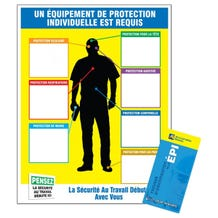 Accuform Safety Sign: PPE-ID Chart & Label Booklet Kit - English