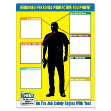 Accuform Safety Sign: PPE-ID Chart - English