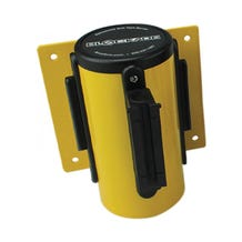 Accuform Blockade Wall-Mount Barriers - Yellow w/ Red Belt