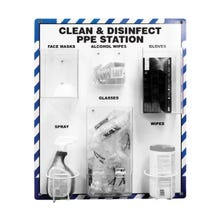 """Accuform Clean & Disinfect PPE Station (32"""" x 27"""")"""