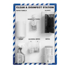 """Accuform Clean & Disinfect Station w/ Stand (27"""" x 24"""")"""