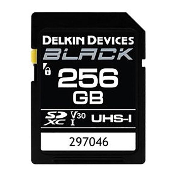 Delkin Devices 256GB BLACK UHS-I (U3/V30) SDXC Memory Card