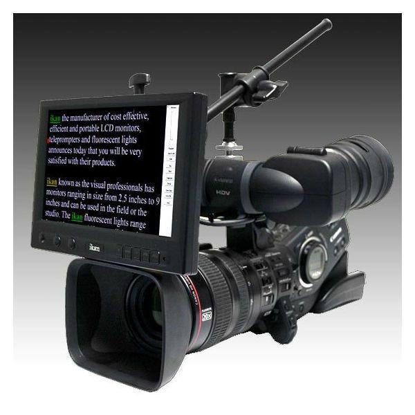 """Ikan 8"""" 16:9 Portable Teleprompter Kit (Over Lens)"""