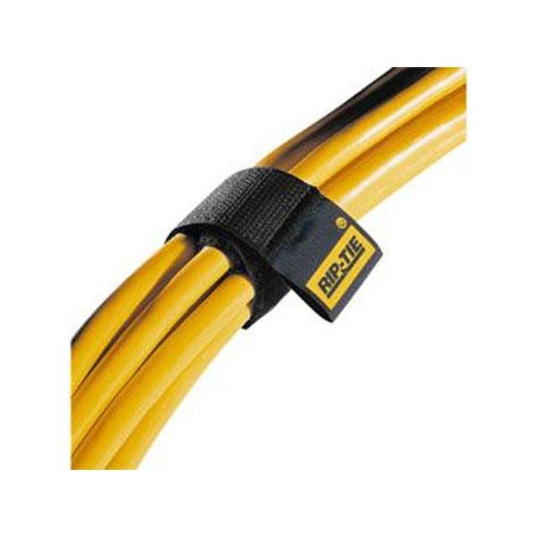 "Rip-Tie hook and loop Cable Wrap. Black 10-Pack 1"" x 6"""