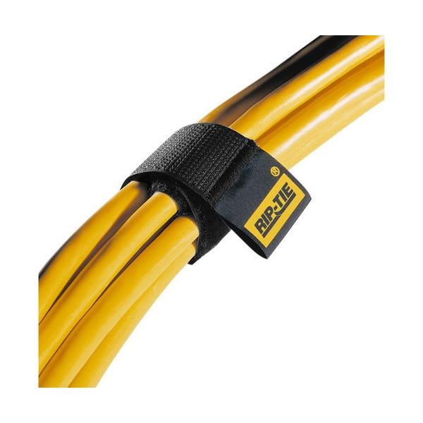"""Rip-Tie 1 x 14"""" Heavy-Duty Hook & Loop Cable Ties - 10 Pk (Various Colors)"""