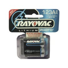 Rayovac RL123A-2 3V Lithium Batteries (123A size, 2 pack)