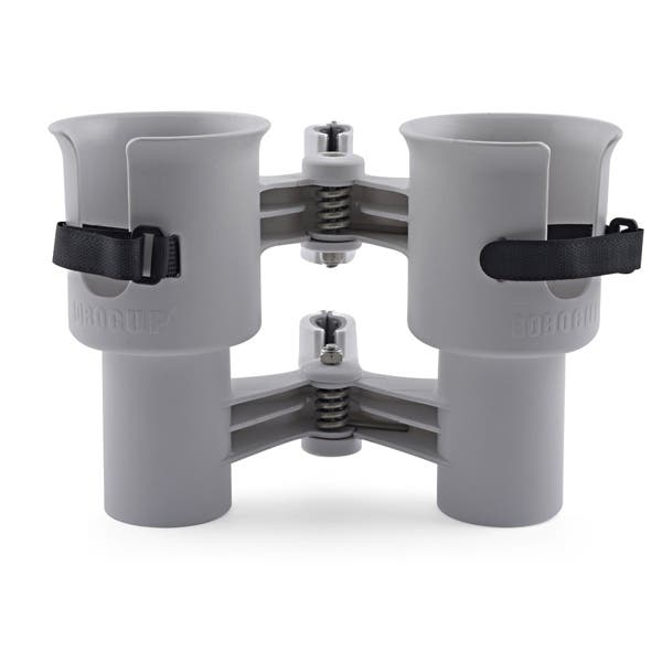 RoboCup Patented Portable Clamp-On Caddy Dual Cup Holder - Gray