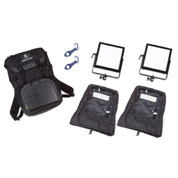 Rosco 2-Head LitePad Vector CCT Backpack Kit