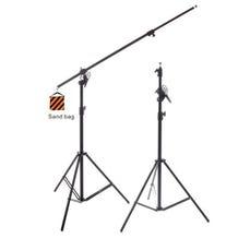 RPS Studio 12' Black Heavy-Duty Convertible Boom Arm/Light Stand