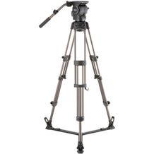 Libec Professional Aluminum Tripod System with Floor-level Spreader for ENG Setups