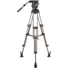Libec Professional Aluminum Tripod System with Mid-level Spreader for ENG Setups