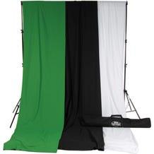 Savage Accent Muslin Background Kit (10 x 12', White/Black/Green)