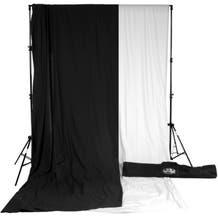 Savage Accent Muslin Background Kit (10 x 24', White Black)
