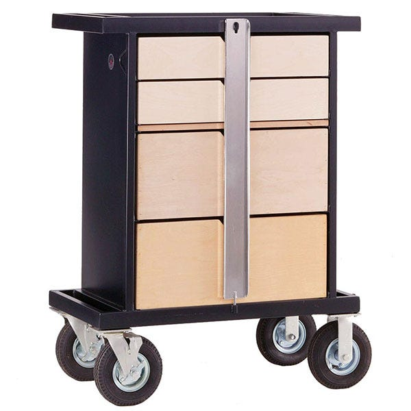 Backstage Wood Work Box Cart for Studio /  Stage Applications
