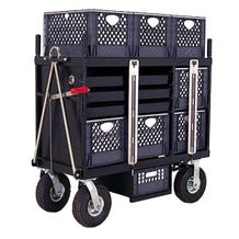 Backstage 4-Crate Horizontal Set Box Studio / Stage Cart