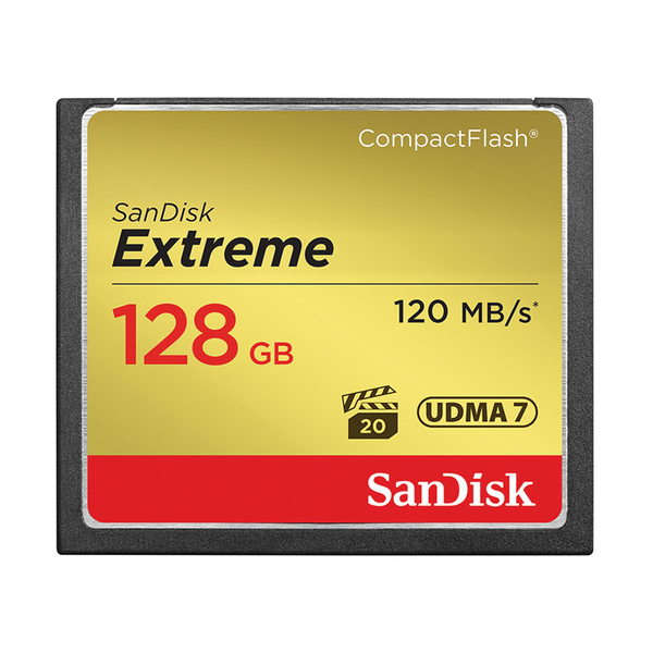SanDisk 128GB Extreme CompactFlash Memory Card