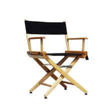 Custom Print Film Craft Studio Director's Chair - Short - Natural