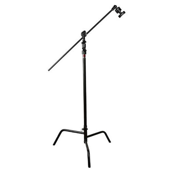 "Matthews Studio Equipment 40"" Black Hollywood C+ Stand with Spring Loaded Turtle Base, Grip Head & Arm"