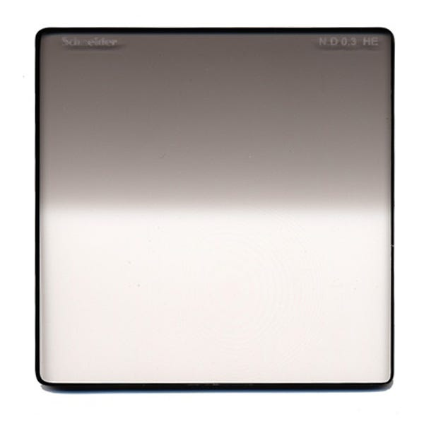 "Schneider Optics 4 x 4"" Graduated Neutral Density (ND) 0.3 Water-White Glass Filter - Hard Edge"