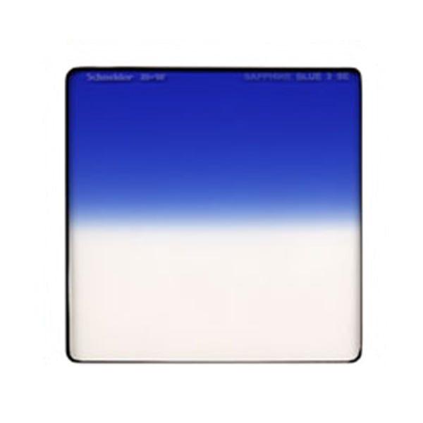 "Schneider Optics 4 x 4"" Graduated Sapphire Blue 3 Water White Glass Filter - Soft Edge"