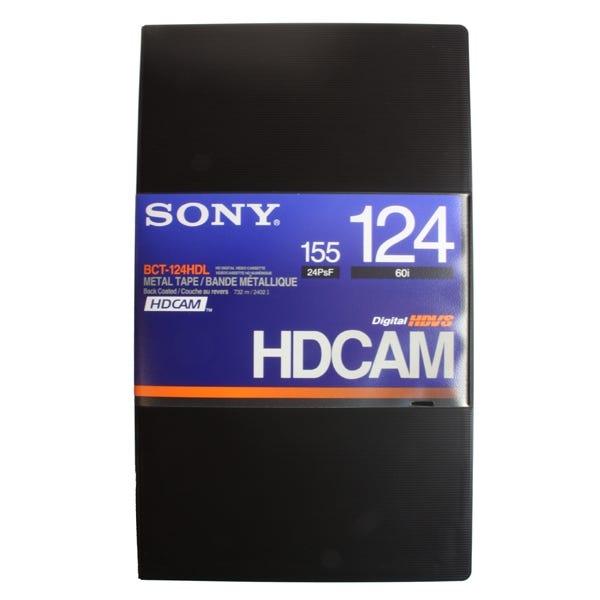 Sony Hi-Def BCT-124HDL. HDCAM 124 minute digital video tape cassette. (High Definition)