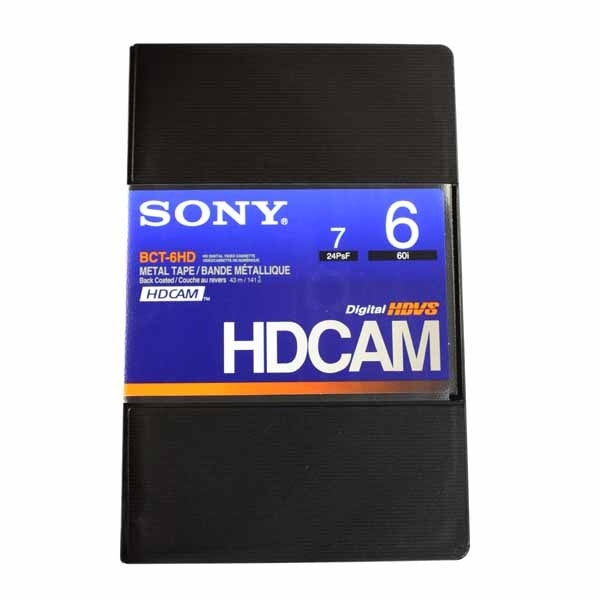 Sony HDCAM Video Cassette Tape 6min