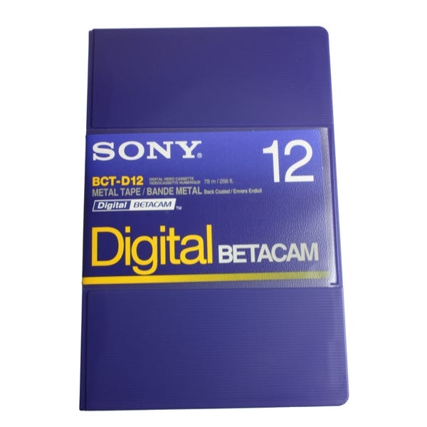Sony Digital Betacam Video Cassette 12min