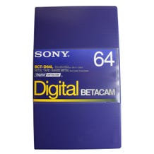 Sony BCTD64L 64min Digital Betacam Video Cassette in Album Case - Large