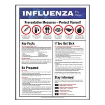 "Accuform Safety Poster: Influenza Flu Virus - Non-Laminated (28"" x 22"")"