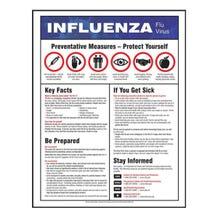 "Accuform Safety Poster: Influenza Flu Virus - Laminated (22"" x 17"")"