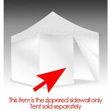 E-Z UP Eclipse™ II Tent Zipper Side/Front Wall 10x10 White
