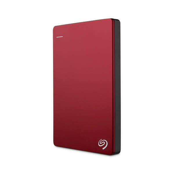 Seagate 1TB Backup Plus Slim Portable External Hard Drive - Red