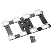 """Ledgo T14 Transparent clip for 4 tubes with 5/8"""" Lamp Adapter"""