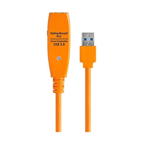 "Tether Tools 13.5"" TetherBoost Pro USB 3.0 Core Controller w/ European Plug - Orange"