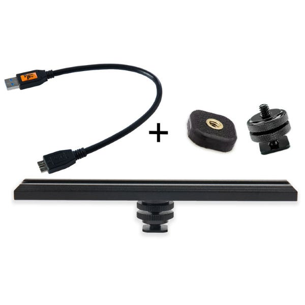Tether Tools CamRanger Camera Mounting Kit with 5-Pin USB 3.0 Cable - Black