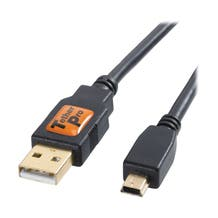 Tether Tools 1' TetherPro USB 2.0 Type-A to 5-Pin Mini-USB Cable - Black