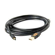 Tether Tools 15' TetherPro USB 2.0 Type-A to 5-Pin Mini-USB Cable - Black