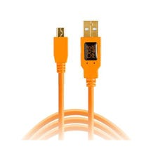 Tether Tools 15' TetherPro USB 2.0 Type-A to 5-Pin Mini-USB Cable - Orange