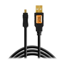 Tether Tools 15' TetherPro USB 2.0 Type-A to 8-Pin Mini-USB Cable - Black
