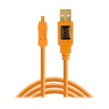 Tether Tools 15' TetherPro USB 2.0 Type-A to 8-Pin Mini-USB Cable - Orange
