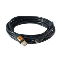 Tether Tools 15' TetherPro USB 2.0 Type-A to 5-Pin Micro-B Cable - Black