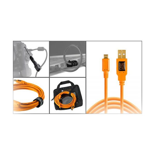 Tether Tools Starter Tethering Kit with USB 2.0 Micro-B 5-Pin Cable - Orange
