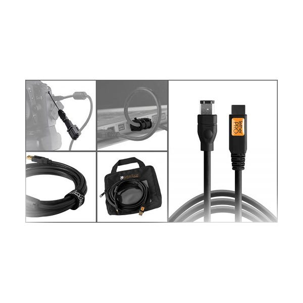 Tether Tools Starter Tethering Kit with FireWire 6-Pin Cable - Black