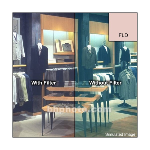 "Tiffen 6.6 x 6.6"" Fluorescent Glass Filter for Daylight Film"