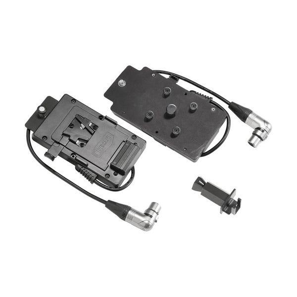 VELVET Light V-Lock to Right-Angled XLR3 Battery Plate for MINI 1 LED Light