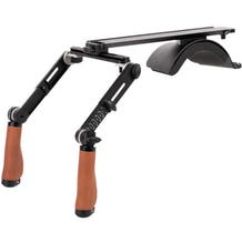 Wooden Camera Shoulder Rig v3 Pro (Leather Handles)