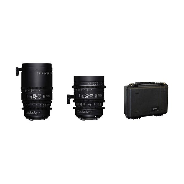 Sigma 18-35mm and 50-100mm Lenses with Case - E Mount