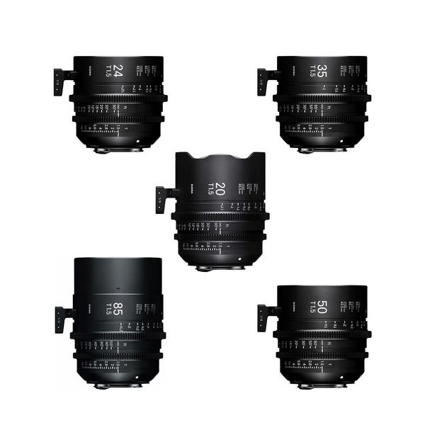 Sigma T1.5 FF High-Speed 5 Prime Lens Kit with Case - PL Mount