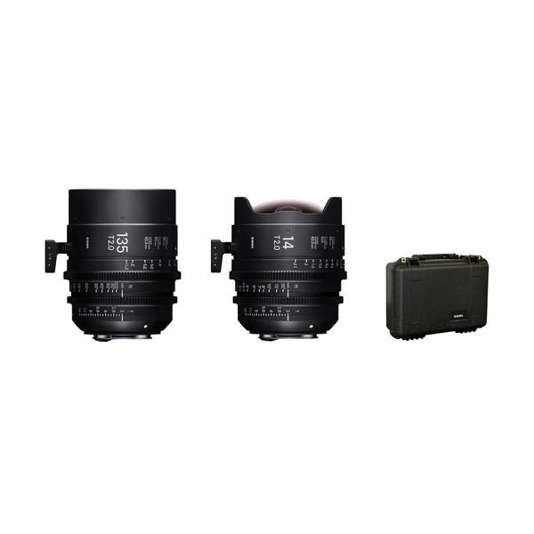 Sigma 14/135mm FF High Speed Prime Lens Kit with Case - EF Mount